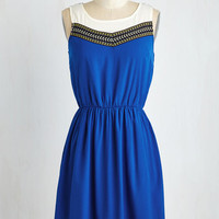 Boho Mid-length Sleeveless A-line Got the Mixologist of It Dress