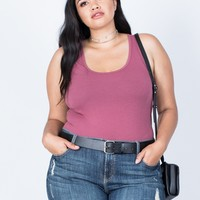 Plus Size Just Right Leather Belt