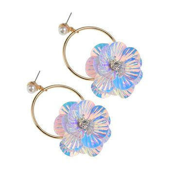 CELAI - Wildflower Sequin Hoops