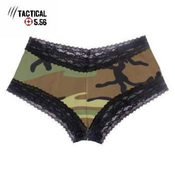 Women's Camo Lace Trimmed Under Shorts