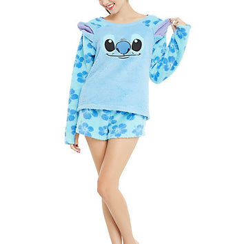 Disney Lilo & Stitch Plush Stitch Girls Short Sleep Set