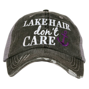 Lake Hair Don't Care Trucker Hat - 2 Colors