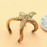 Lingstar(TM) Fashion Cute Mini Sea Star Ring Women Finger Ring
