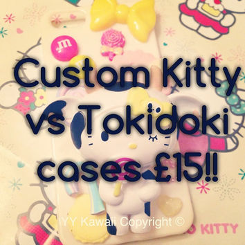 Custom Kitty vs Tokidoki Handmade Phone Case for by YYKawaii
