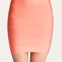 bebe Womens Solid Bandage Skirt