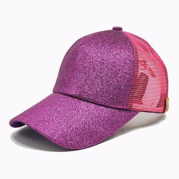 Trendy Winter Jacket Women CC Ponytail Baseball Cap Sequins Messy Bun Dad Hats Summer Snapback Mesh Trucker Hat Casual Girls Hip Hop Adjustable Caps AT_92_12