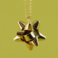 Bow Pendant by BlessThisMessNYC on Shapeways