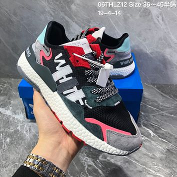 HCXX A1193 Adidas 2019 Nite Jogger Boost EQT Fashion Running Shoes Black Red Gray