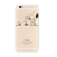 Snoopy Barbecue Woodstock iPhone 6s 6 Plus Transparent Clear Soft Case
