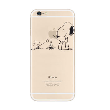 Snoopy Barbecue Woodstock iPhone 6s 6 Plus Soft Clear Case