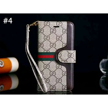 GUCCI tide brand high-end flip men and women iphone6splus mobile phone shell #4