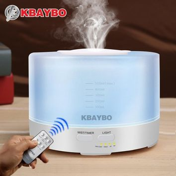 Aromatherapy Humidifier Essential Oil Aroma Diffuser With Remote Control 7 Color