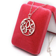 Most beautiful monogram necklace --personalized 3 initial name pendant monogram jewelry for best gift