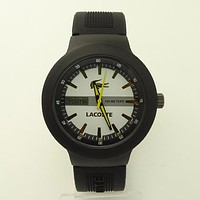 Lacoste color reflective watch F-SBHY-WSL Yellow crocodile pattern