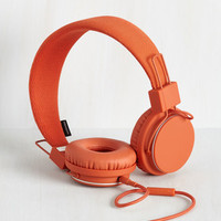 Music Thoroughly Modern Musician Headphones in Terra-Cotta by Urbanears from ModCloth