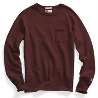 Classic Pocket Sweatshirt in Maroon
