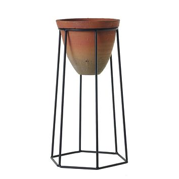 """Outdoor Terracotta Plant Stand - 16.75"""""""