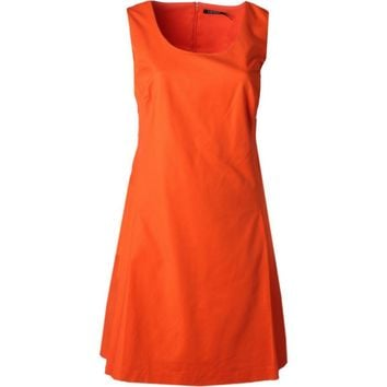 Lauren Ralph Lauren Womens Plus Box Pleated A-Line Casual Dress