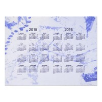 Old Blue Paint 2 Year 2015-2016 Wall Calendar Posters from Zazzle.com