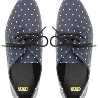 ASOS MONACO Lace Up Flat Shoes with Polka Dot Print at asos.com