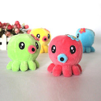 1x Baby Kid Plush Octopus Stuffed Toys Animal Soft Cartoon Playing Cloth USLS .S