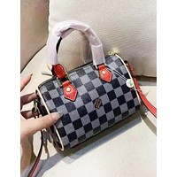 Louis Vuitton LV New Fashion Plaid Leather Shopping Leisure Handbag Shoulder Bag Women