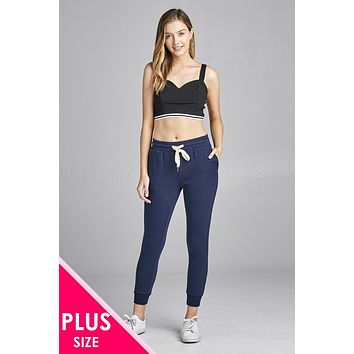 French Terry Capri Jogger Pants Beautiful Womens Plus Size Fashion Styles Trends Outfits On A Budget