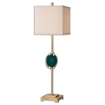 Achates Emerald Agate Buffet Lamp By Uttermost