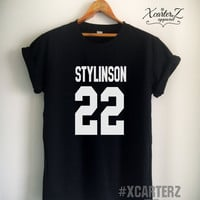 Larry Stylinson Shirt STYLINSON 22 T-Shirt Print on Front or Back side Unisex Women Men Tumblr T-Shirt Black/White/Grey/Red