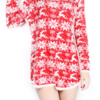 Small Snowflake Christmas Reindeer sweater loose knit women's average code-LJ160901-fz002