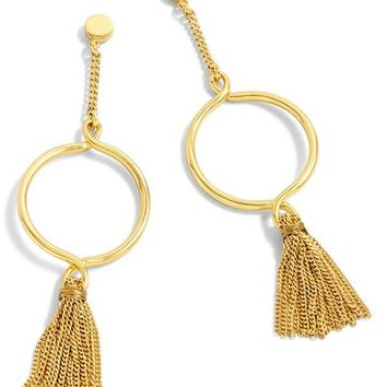 J.Crew Hanging Hoop Broom Earrings | Nordstrom