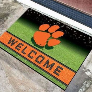 Clemson Tigers Door Mat 18x30 Welcome Crumb Rubber