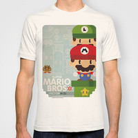 mario bros 2 fan art T-shirt by Danvinci