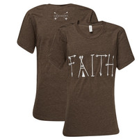 Southern Couture Lightheart Faith Front Print Triblend  T-Shirt