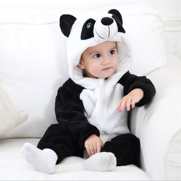 New Todder Baby boys girls clothes new born baby Cartoon pajamas warm winter animal Pajamas for 0 1 2 years old