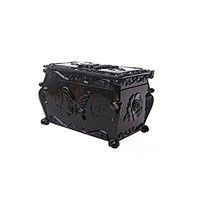 1 X Anna sui style Classic Black Retro Double makeup cotton cosmetics Storage box