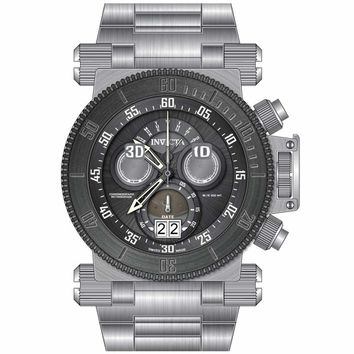 Invicta 17646 Men's Coalition Forces Gunmetal Bezel Gunmetal Dial Steel Bracelet Chrono Watch