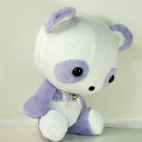 Cute Bellzi Stuffed Animal Purple w/ White Contrast Panda Plushie Doll - Pandi