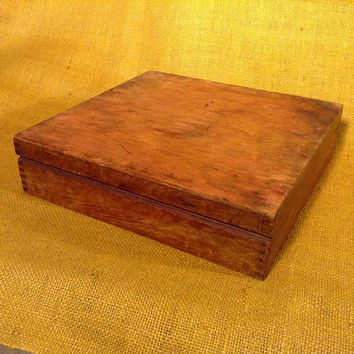 Old Finger Jointed Remains of Wood Display Box - Box Jointed Frame - Box - Case
