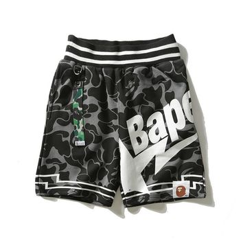 Men Casual Camouflage Pants Shorts [1573980012637]