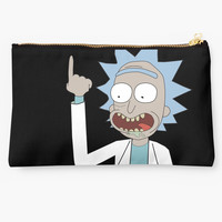 'Rick and Morty - Waaaaaaaay Up Your Butt' Studio Pouch by snesfreak
