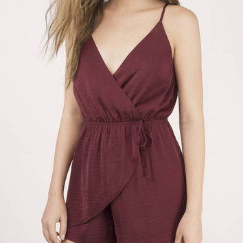 Let You Go Wrap Romper