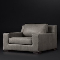 Modena Track Arm Leather Chair