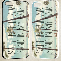 salt in the air sand in my hair quote F0595 iPhone 4S 5S 5C 6 6Plus, iPod 4 5, LG G2 G3, Sony Z2 Case