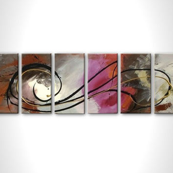 Art deco - Huge abstract painting - Purple painting - Contemporary canvas art - Abstract canvas painting - Large art - Gray brown - Wall art