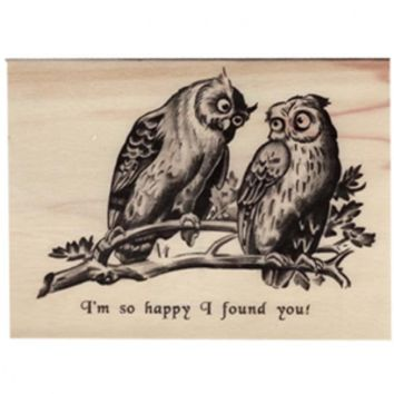 Wood Folding Card Happy I Found You