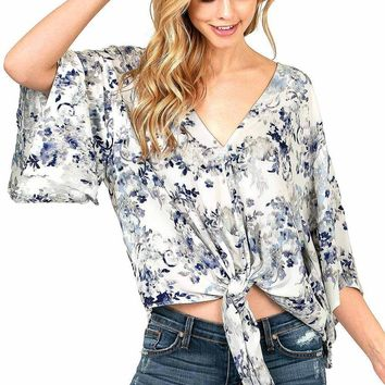 Misty Floral Blouse