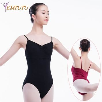 Adult ballet Gymnastics Leotard for girl ballet leotards for women Blue White Cotton lycra Camisole Ballet Dance Wear bodysuit