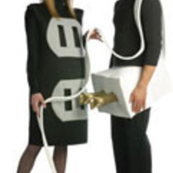 Adults Plug and Outlet Costume Set