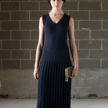 Hand Knit Drop Waist Dress